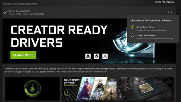 NVIDIA Creator Ready Driver