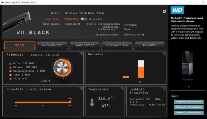 wd black sn750 1 tb wd ssd dashboard 1