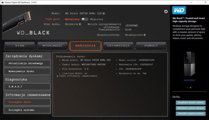 wd black sn750 1 tb wd ssd dashboard 3