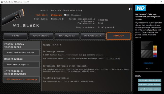 wd black sn750 1 tb wd ssd dashboard 5