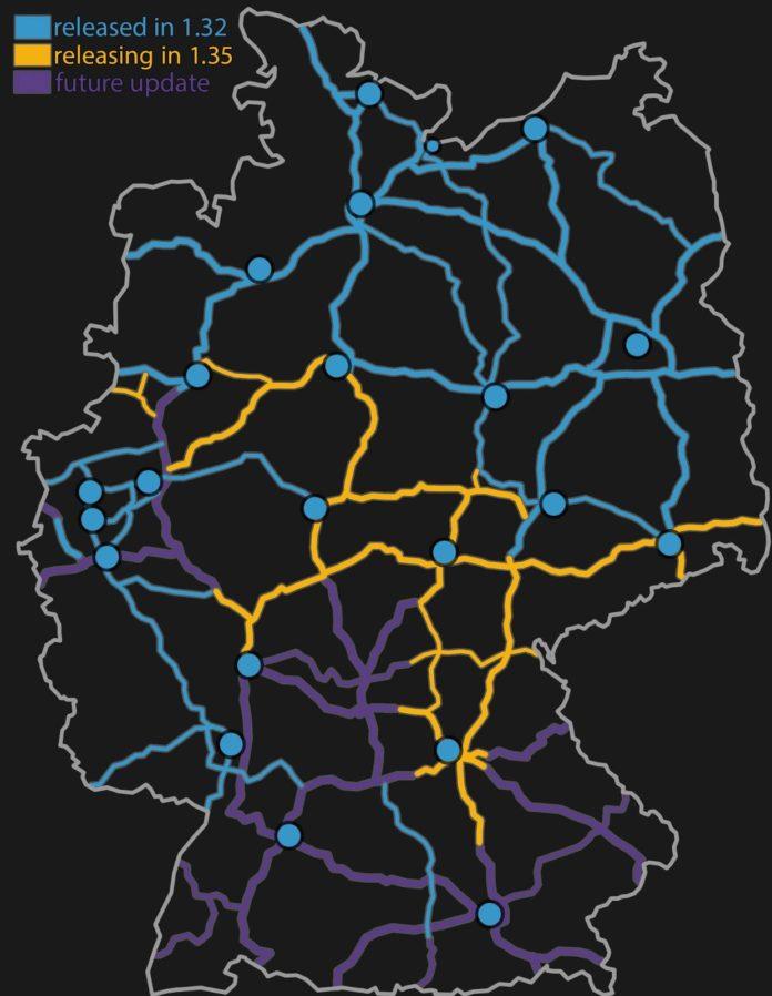Euro Truck Simulator 2 - przebudowa Niemiec