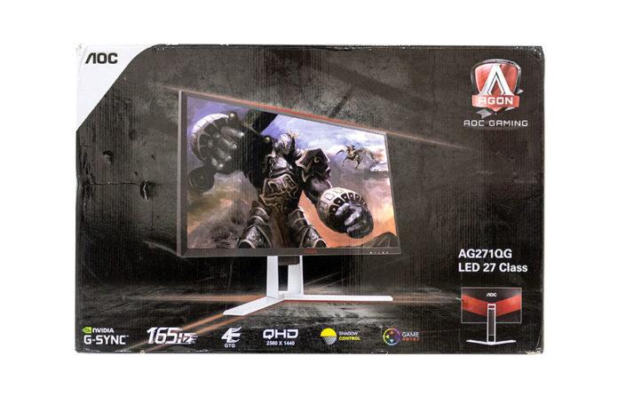 AOC AGON AG271QG - pudełko i zawartość