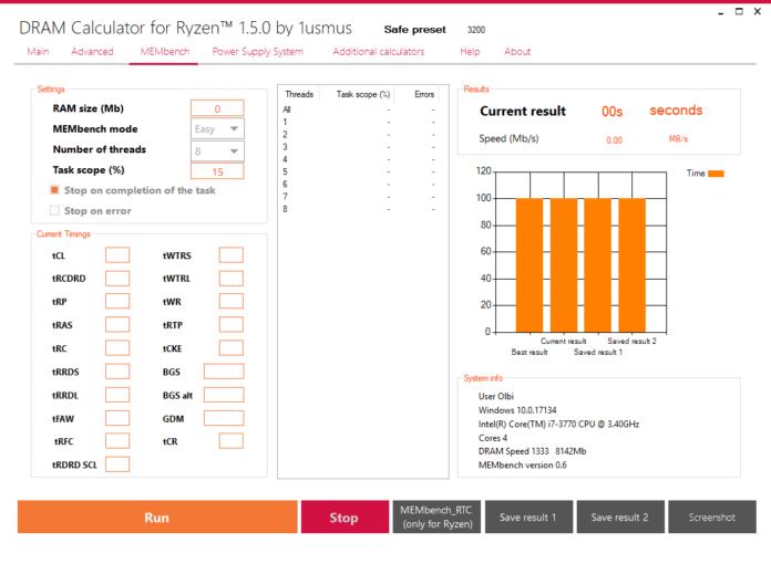 Ryzen DRAM Calculator 1.5.0