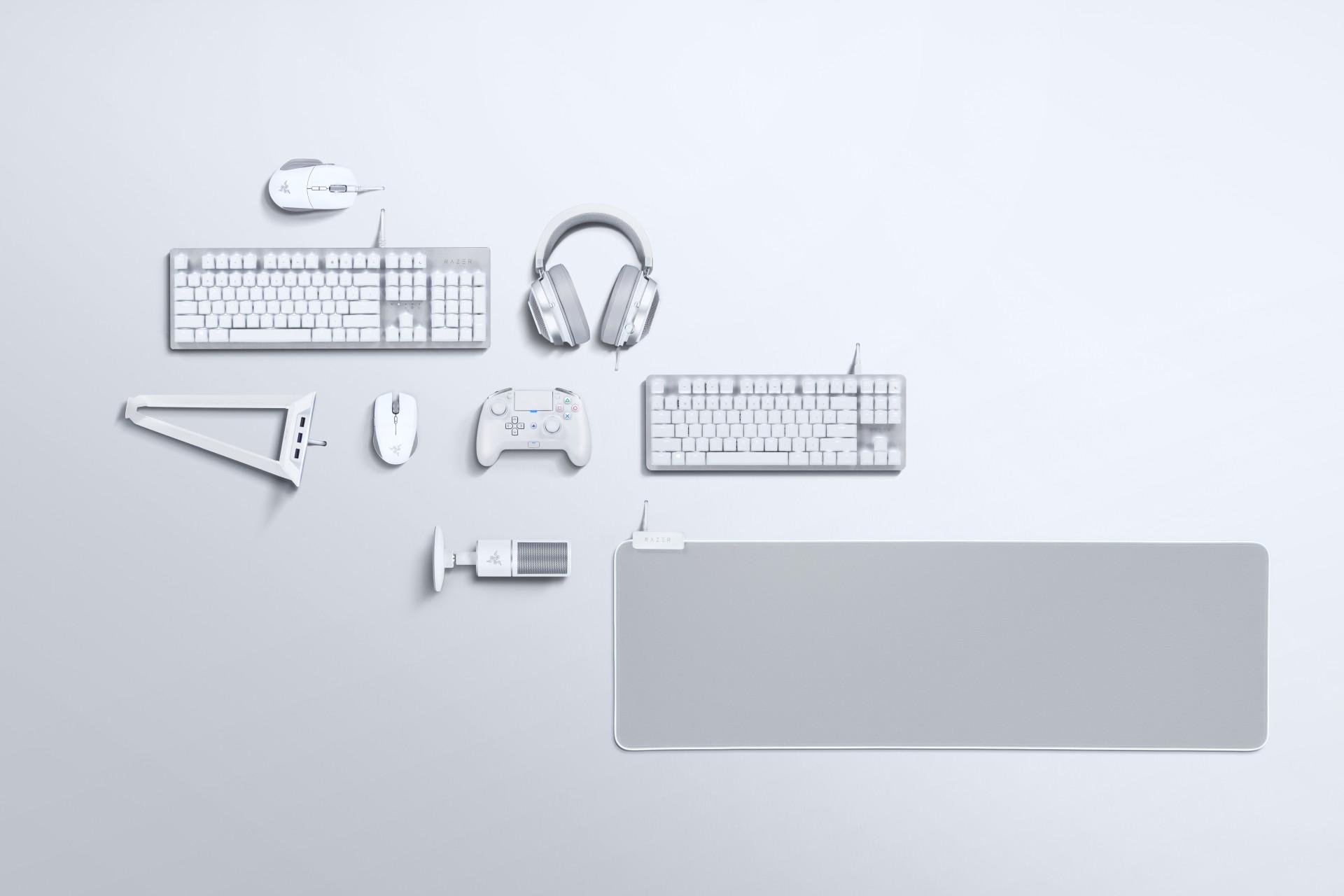 Razer Mercury 2019 - białe wersje urządzeń peryferyjnych i akcesoriów 1