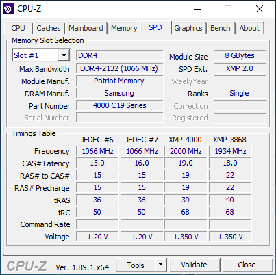 Athlon 240GE - CPU-Z