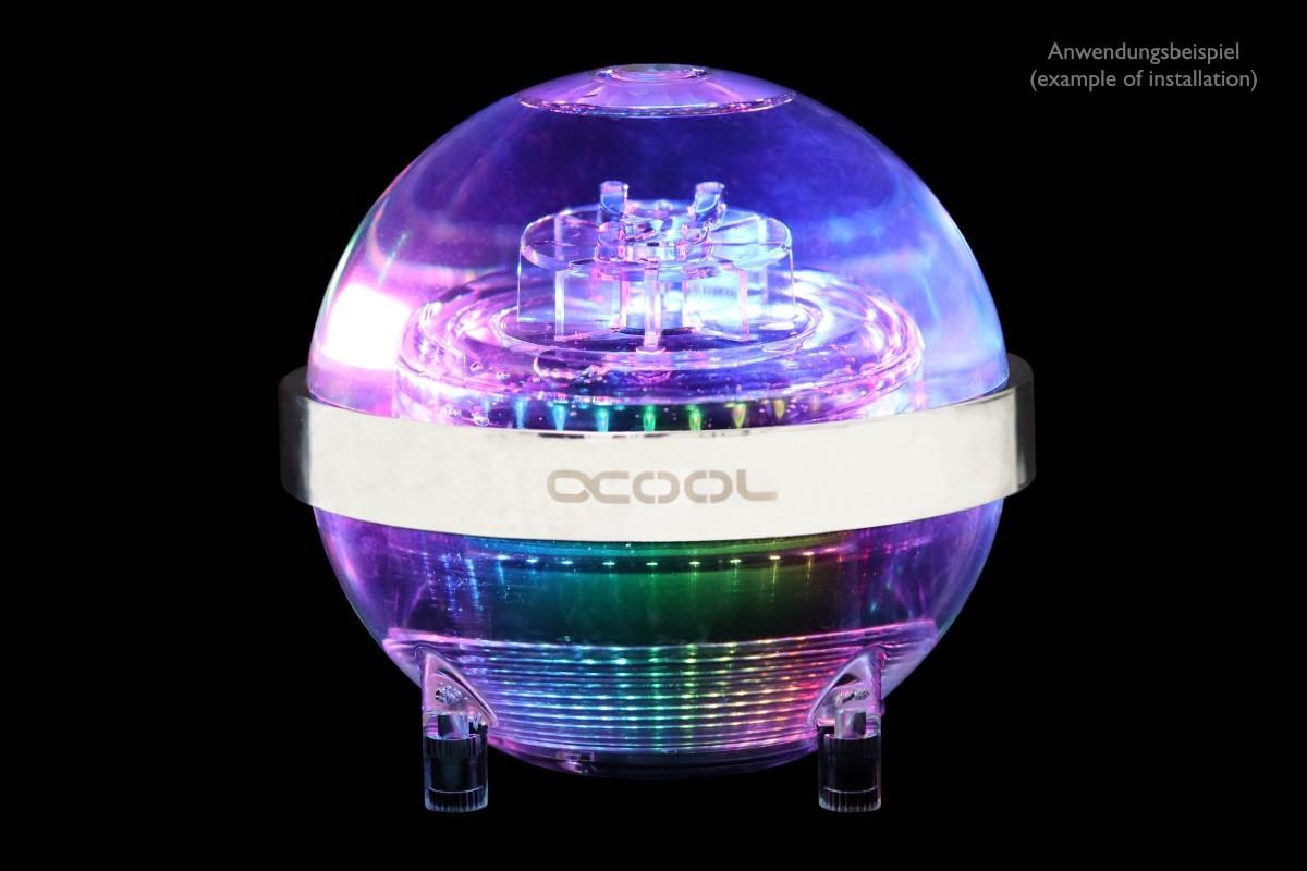 Alphacool Eisball - ciekawy rezerwuar z pompą w kształcie kuli 1