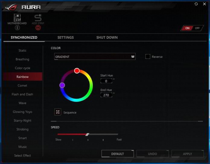 ASUS ROG STRIX X370-I GAMING - ASUS AURA Sync RGB
