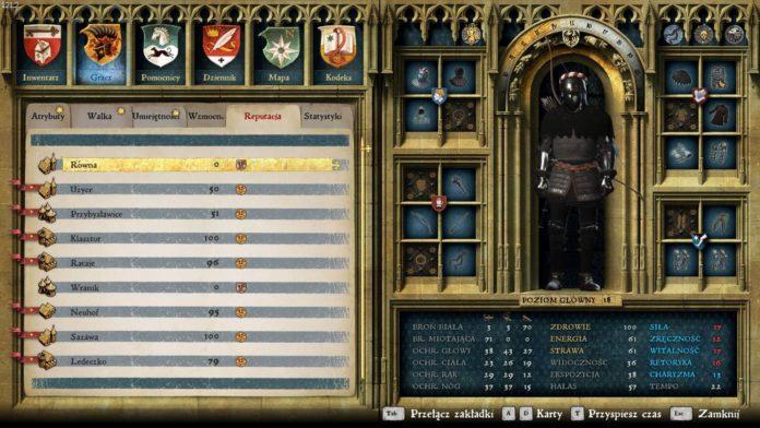 Kingdom Come: Deliverance - Ekwipunek i statystyki postaci