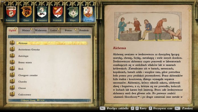 Kingdom Come: Deliverance - Ekwipunek i statystyki postaci - Kodeks