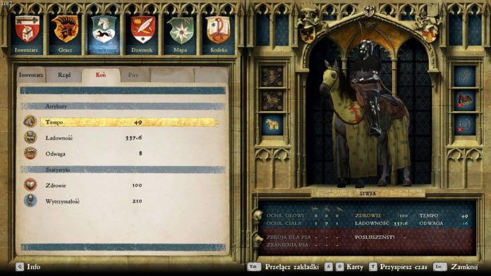 Kingdom Come: Deliverance - Ekwipunek i statystyki postaci - pomocnicy