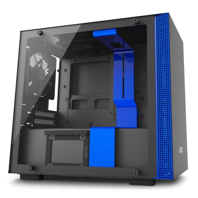 nzxt h200i matte black blue 1
