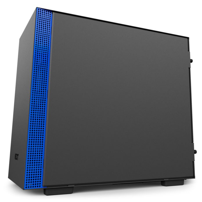 nzxt h200i matte black blue 5