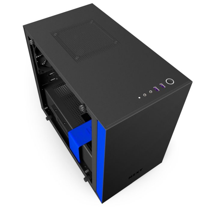 nzxt h200i matte black blue 6