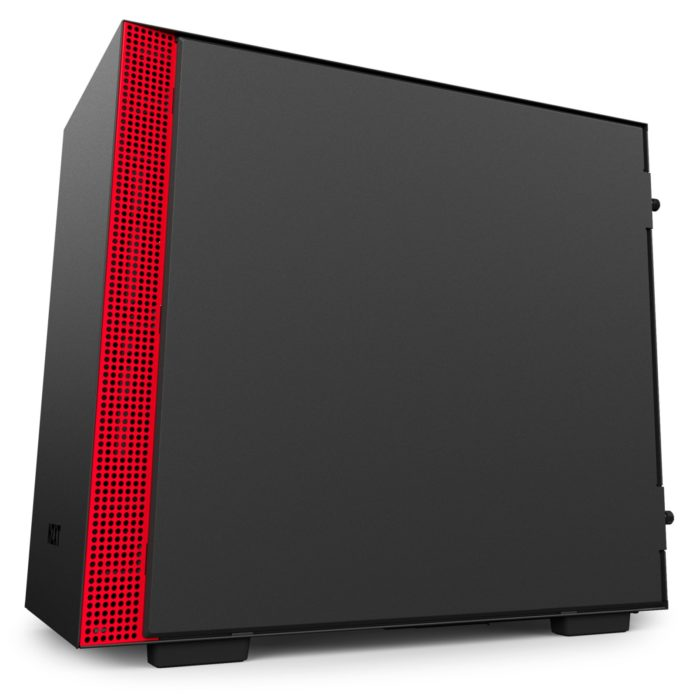 nzxt h200i matte black red 3