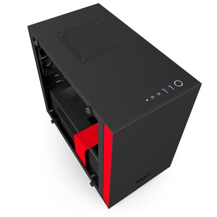 nzxt h200i matte black red 5
