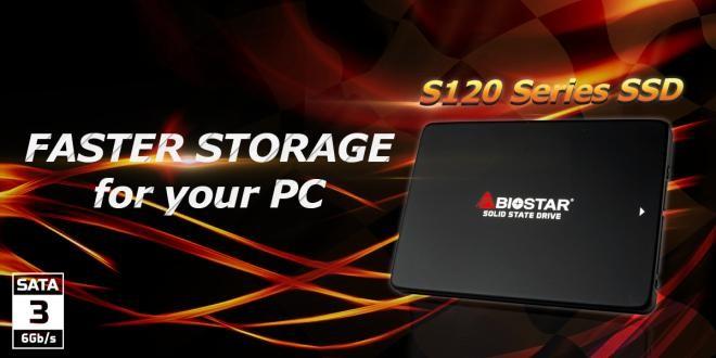 BIOSTAR wprowadza dyski SSD z serii S120 na interfejsie SATA 1