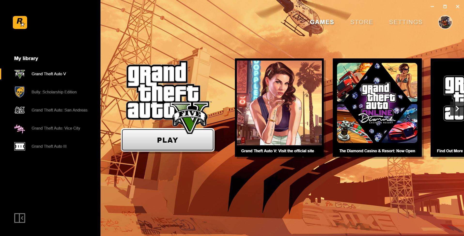 Rockstar Games Launcher - klient do gier od firmy Rockastar Games 1