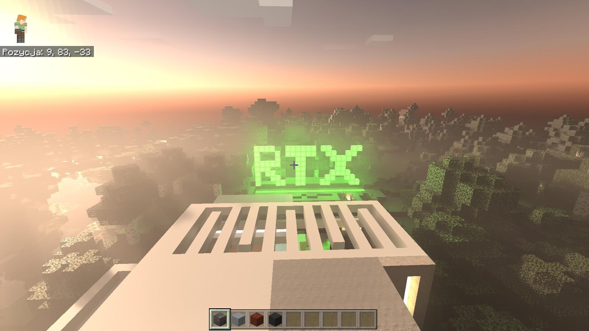 Minecraft z nowymi materiałami na temat ray-tracingu 1