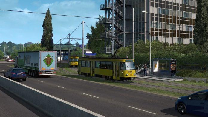 Euro Truck Simulator 2 - Road to the Black Sea - tramwaje