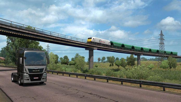 Euro Truck Simulator 2 - Road to the Black Sea - pociągi