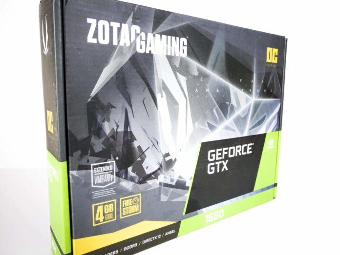 ZOTAC GAMING GeForce GTX 1650 OC - opakowanie
