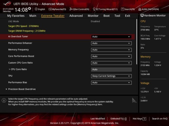 ASUS ROG Crosshair VIII Impact - UEFI