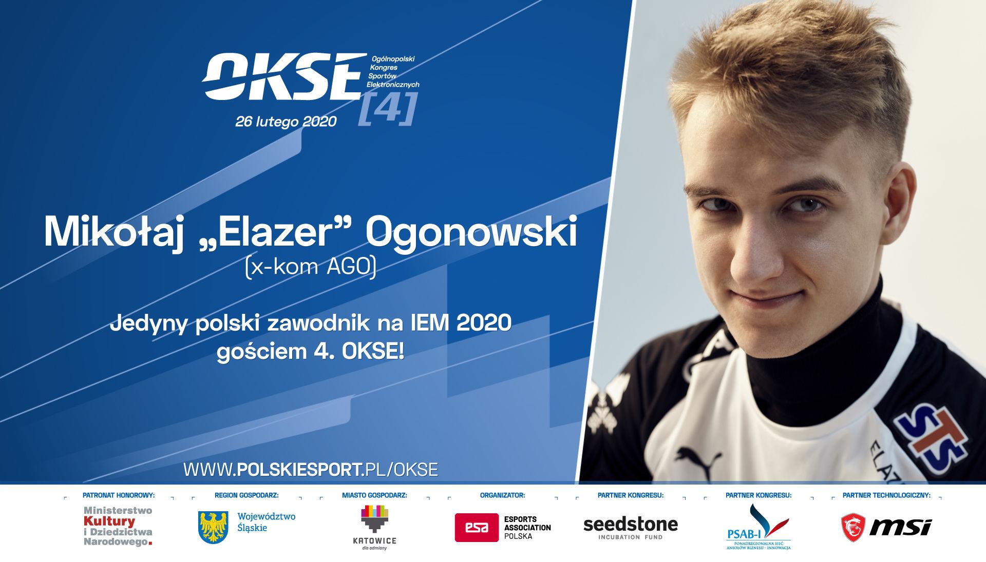 """Mikołaj """"Elazer"""" Ogonowski na 4. Ogólnopolskim Kongresie Sportów Elektronicznych 1"""