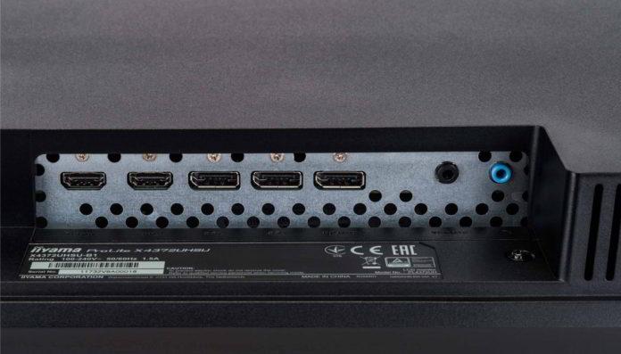 iiyama ProLite X4372UHSU-B1 - 43-calowy monitor 4K do pracy biurowej 6
