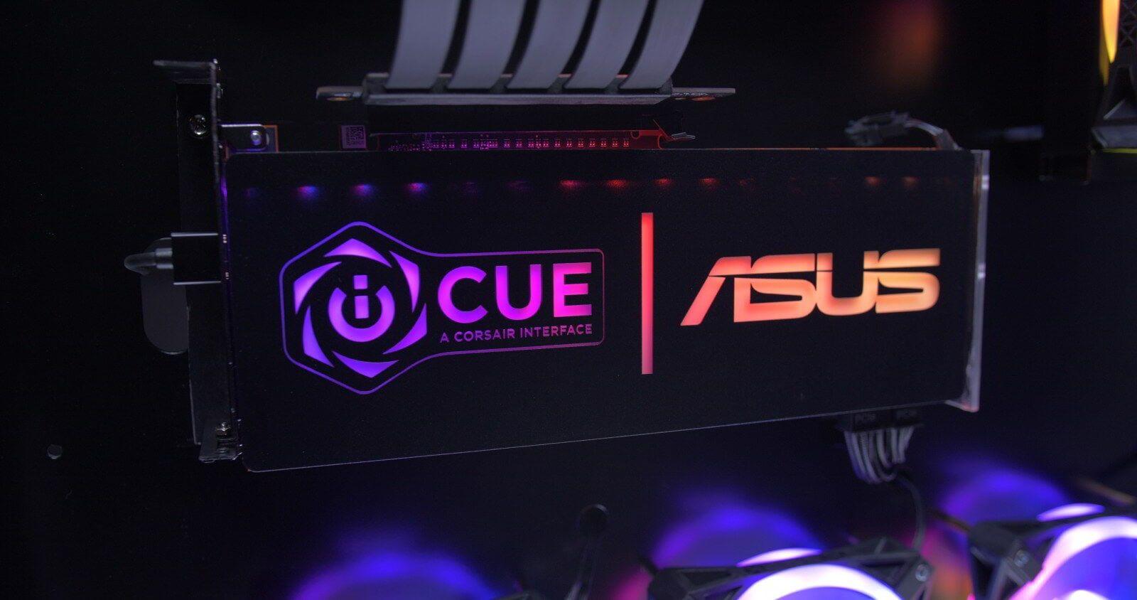 CORSAIR iCUE otrzymuje sterowanie podświetleniem RGB płyt ASUSa 2