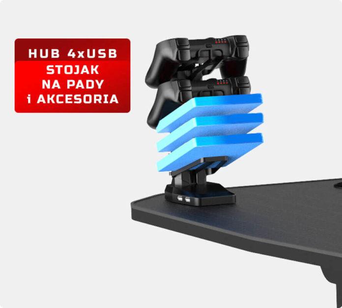 Pro-Gamer D6000 XXL - nowoczesne i przestrzenne biurko dla graczy 2