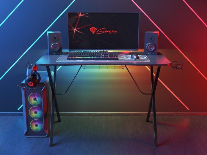 Genesis Holm 200 RGB - biurko dla graczy z podświetleniem RGB LED 1