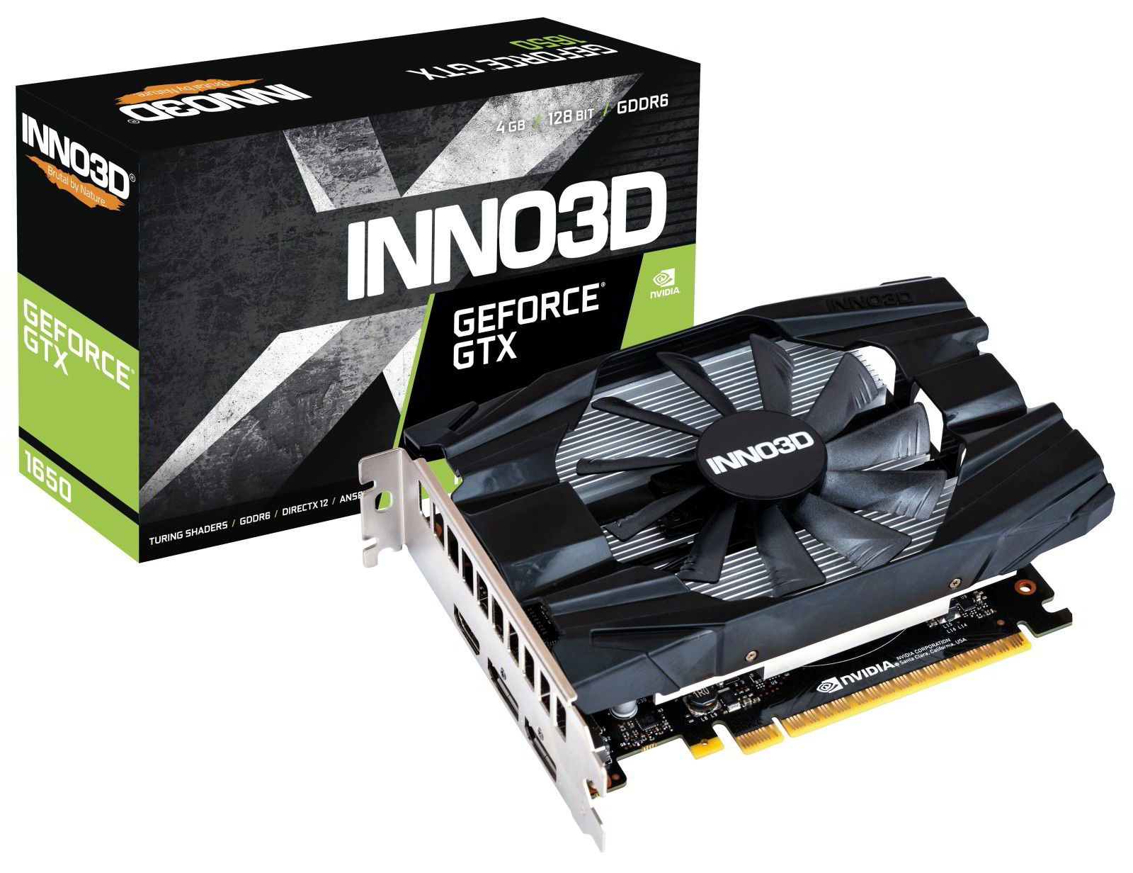 Inno3D GeForce GTX 1650 D6 Compact z pamięciami GDDR6 4