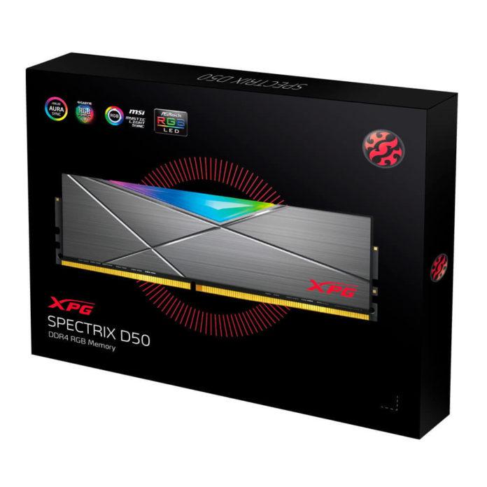 ADATA XPG Spectrix D50 - wydajne kości pamięci DDR4 z RGB 3