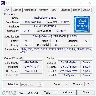 Shuttle NC10U - procesor