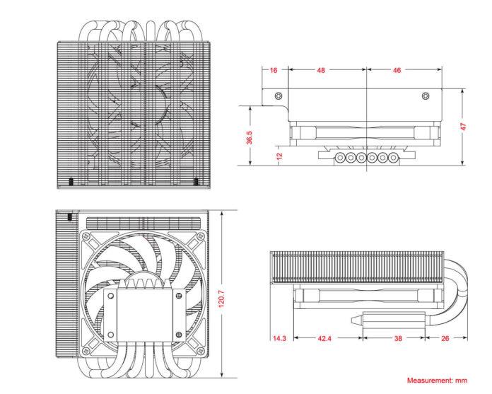 ID-Cooling IS-47K - niskoprofilowe chłodzenie procesorów dla mini-ITX 5