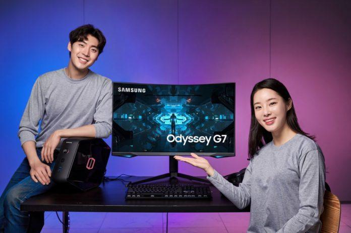 Samsung Odyssey G7 - pierwszy monitor gamingowy z krzywizną 1000R 2