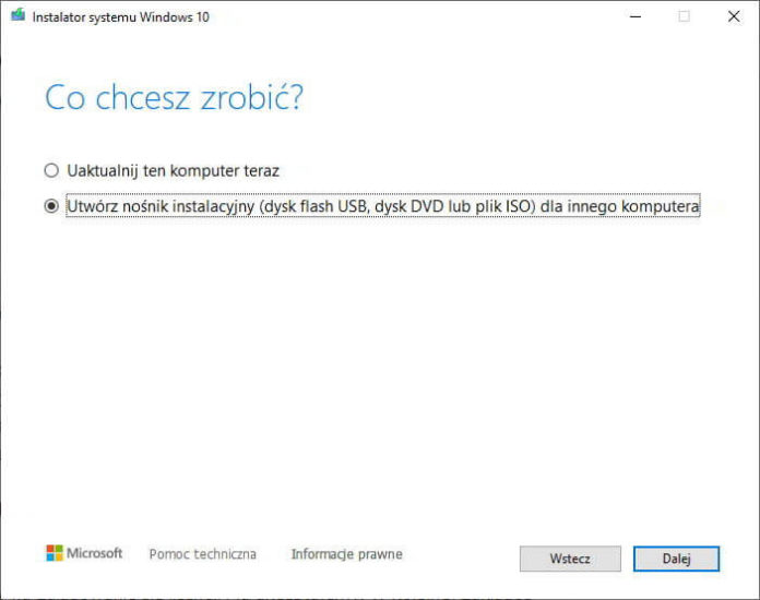 Jak pobrać i nagrać obraz systemu Windows 10 na kartę SD lub pendrive? 2