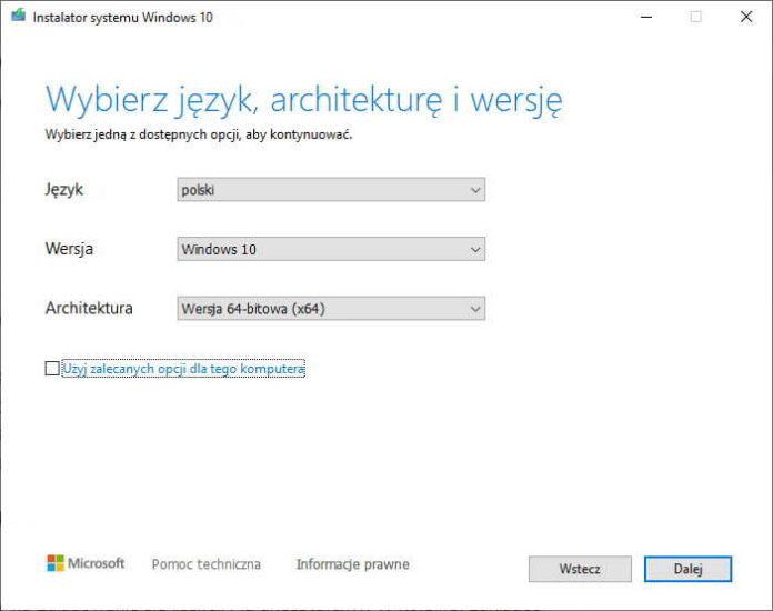 Windows 10 - pobranie ISO i instalacja
