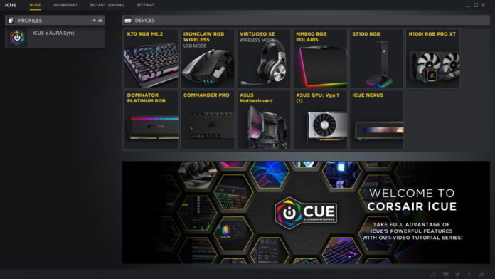 CORSAIR iCUE - integracja z Hyper Space i ASUS Aura Sync