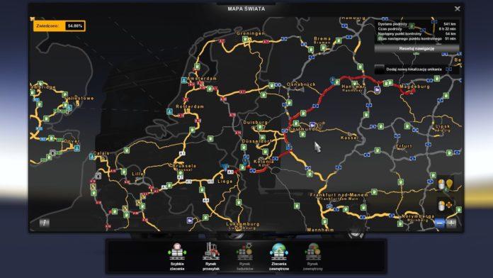 Euro Truck Simulator 2 - aktualizacja 1.38 - doradca drogowy