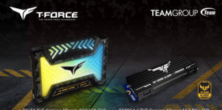 T-FORCE DELTA TUF Gaming Alliance RGB Gaming (5V) i T-FORCE CARDEA II TUF Gaming M.2