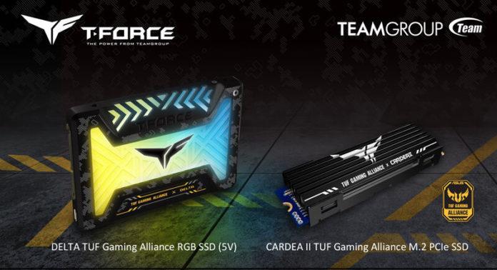 T-FORCE DELTA TUF Gaming Alliance RGB Gaming (5V) i T-FORCE CARDEA II TUF Gaming M.2