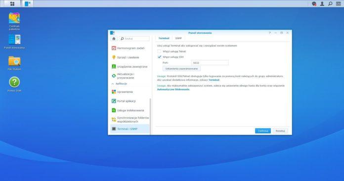 Synology DS720+ - Serwer SSH i dostęp przez konsolę