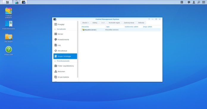Synology DS720+ - Central Management System