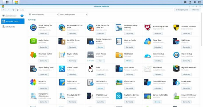 Synology DS720+ - AppCenter