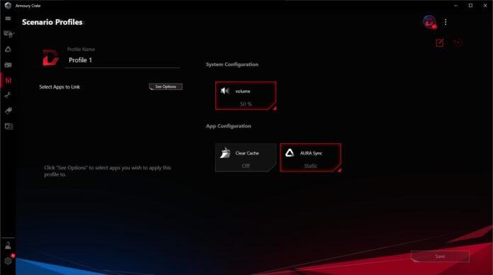 ASUS ROG Strix B550-I Gaming - Armoury Crate - Scenerio Profiles