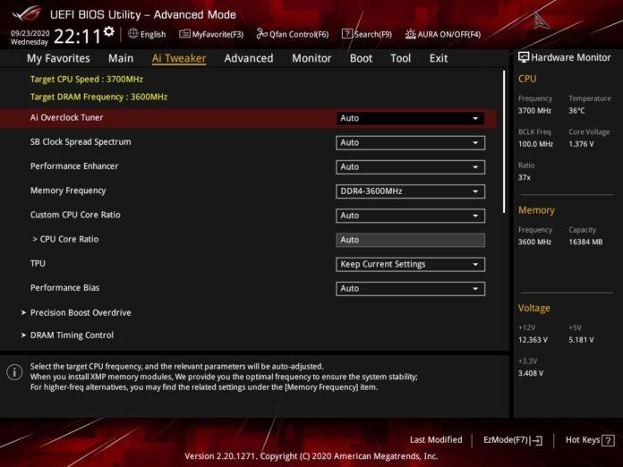 ASUS ROG Strix B550-I Gaming - UEFI