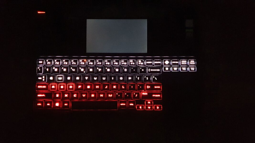 Omen X 2S - podświetlenie