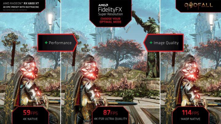 AMD FSR optimal setting - 4K, Ultra, 1440p -Godfall