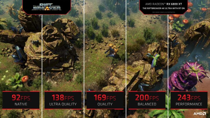 AMD FSR Quality Mode Performance Comparison 4K - Riftbreaker